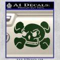 Skull and Cross Bones Stylized Decal Sticker Dark Green Vinyl Black 120x120