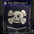 Skull and Cross Bones Stylized Decal Sticker Metallic Silver Vinyl Black 120x120