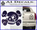 Skull and Cross Bones Stylized Decal Sticker Purple Vinyl Black 120x97