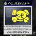 Skull and Cross Bones Stylized Decal Sticker Yellow Vinyl Black 120x120