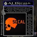 So Cal Skull Decal Sticker Orange Emblem Black 120x120