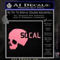 So Cal Skull Decal Sticker Soft Pink Emblem Black 120x120