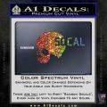 So Cal Skull Decal Sticker Spectrum Vinyl Black 120x120