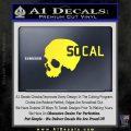 So Cal Skull Decal Sticker Yellow Vinyl Black 120x120