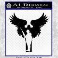 Soldiers Angels Decal Sticker Black Vinyl Black 120x120