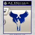 Soldiers Angels Decal Sticker Blue Vinyl Black 120x120