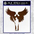 Soldiers Angels Decal Sticker Brown Vinyl Black 120x120