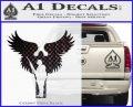 Soldiers Angels Decal Sticker CFB Vinyl Black 120x97