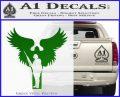 Soldiers Angels Decal Sticker Green Vinyl Black 120x97