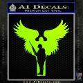 Soldiers Angels Decal Sticker Neon Green Vinyl Black 120x120