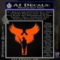 Soldiers Angels Decal Sticker Orange Emblem Black 120x120