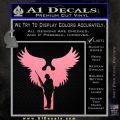 Soldiers Angels Decal Sticker Soft Pink Emblem Black 120x120