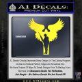 Soldiers Angels Decal Sticker Yellow Vinyl Black 120x120