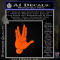 Spock Decal Sticker Star Trek Live Long And Prosper Orange Emblem Black 120x120
