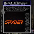 Spyder Ski Decal Sticker Wide Orange Emblem Black 120x120