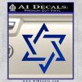 Star Of David Decal Sticker D1 Blue Vinyl Black 120x120