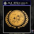 Star Trek Federation Decal Sticker Gold Metallic Vinyl Black 120x120