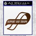 Support Our Troops Decal Sticker Intricate Brown Vinyl Black 120x120