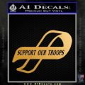 Support Our Troops Decal Sticker Intricate Gold Metallic Vinyl Black 120x120