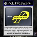 Support Our Troops Decal Sticker Intricate Yellow Vinyl Black 120x120