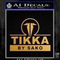 Tikka By Sako Firearms Decal Sticker Gold Metallic Vinyl Black 120x120