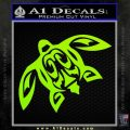 Tribal Turtle Decal Sticker Lime Green Vinyl 120x120