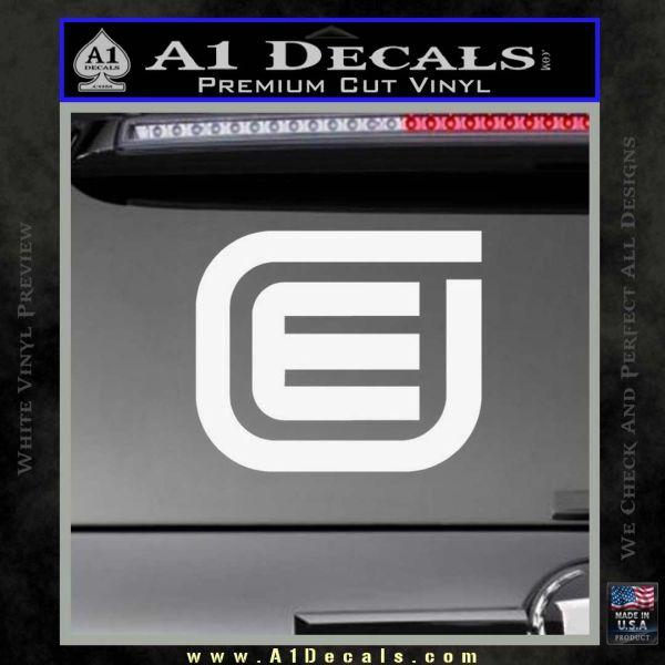 Tron Encom Decal Sticker Gloss White Vinyl