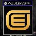 Tron Encom Decal Sticker Gold Vinyl 120x120