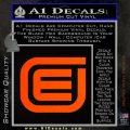 Tron Encom Decal Sticker Orange Emblem 120x120