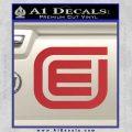 Tron Encom Decal Sticker Red 120x120
