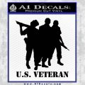 US Veterans Decal Sticker Army Navy Marine Air Force Black Vinyl 120x120