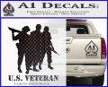 US Veterans Decal Sticker Army Navy Marine Air Force Carbon FIber Black Vinyl 120x97