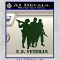 US Veterans Decal Sticker Army Navy Marine Air Force Dark Green Vinyl 120x120