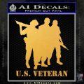 US Veterans Decal Sticker Army Navy Marine Air Force Gold Vinyl 120x120