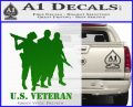 US Veterans Decal Sticker Army Navy Marine Air Force Green Vinyl Logo 120x97