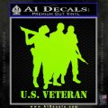 US Veterans Decal Sticker Army Navy Marine Air Force Lime Green Vinyl 120x120