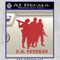 US Veterans Decal Sticker Army Navy Marine Air Force Red 120x120