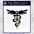 Veterinary Logo D1 Decal Sticker Black Vinyl 120x120