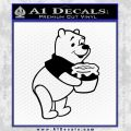 Winnie The Pooh Honey Pot Decal Sticker Black Vinyl 120x120