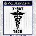 X Ray Tech Medical Decal Sticker Black Vinyl 120x120