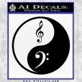 Ying Yang Treble Bass Decal Sticker Black Vinyl 120x120