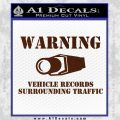 vehicle records surrounding traffic Decal Sticker BROWN Vinyl 120x120