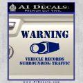 vehicle records surrounding traffic Decal Sticker Blue Vinyl 120x120