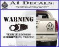 vehicle records surrounding traffic Decal Sticker Carbon FIber Black Vinyl 120x97