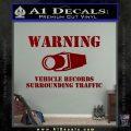 vehicle records surrounding traffic Decal Sticker DRD Vinyl 120x120