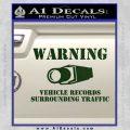 vehicle records surrounding traffic Decal Sticker Dark Green Vinyl 120x120