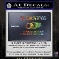 vehicle records surrounding traffic Decal Sticker Glitter Sparkle 120x120