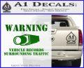 vehicle records surrounding traffic Decal Sticker Green Vinyl Logo 120x97