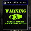 vehicle records surrounding traffic Decal Sticker Lime Green Vinyl 120x120