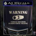 vehicle records surrounding traffic Decal Sticker Metallic Silver Emblem 120x120